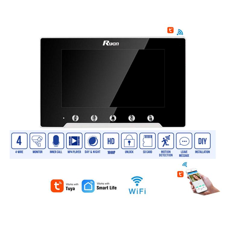 WIFI TUYA Indoor Monitor Model No.RAR595F-HW